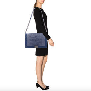 Aut New Chanel XLarge Alligator Boy Bag